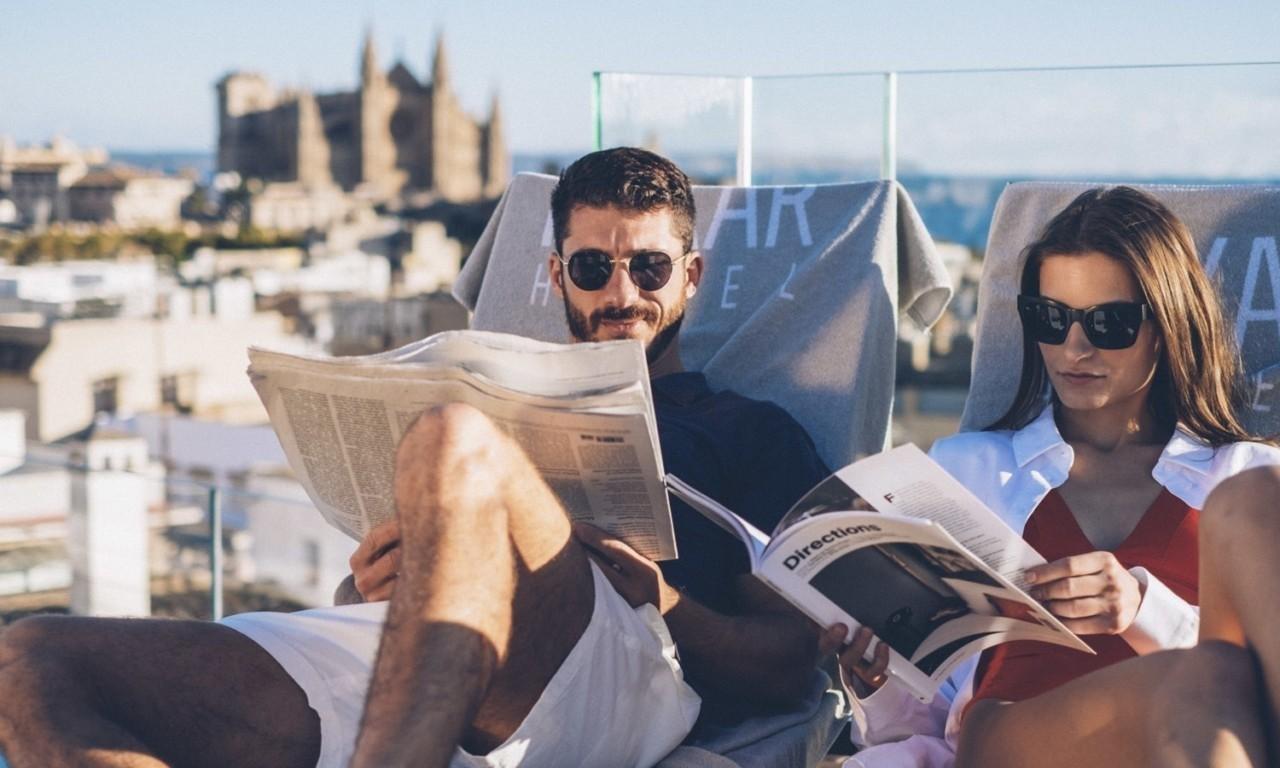 hotel nakar palma mallorca rooftop pool sun